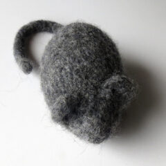 Harry the Dog or Cat Toy Hand Knitted Mouse