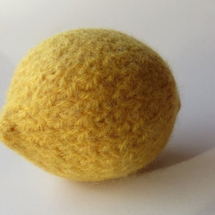 hand knitted lemon
