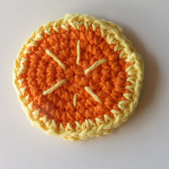 Orange Fruit Slice Hand Crocheted