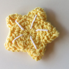crocheted star fruit