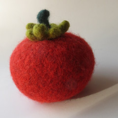 hand knitted tomato