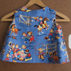 Little Girl's Western Pinafore Toddler Size 1
