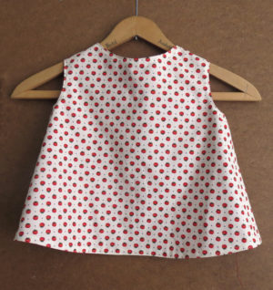 Toddler Tomato Pinafore Size 1