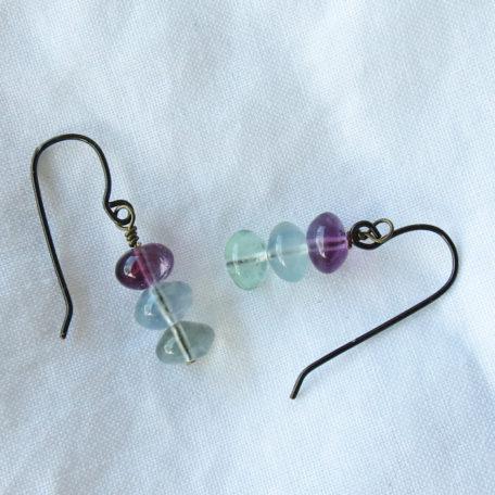 Fluorite Drop Earrings