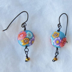 Flower and Sparkle Earrings