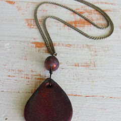 Raku Necklace Pentant
