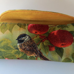 sun glass case bird and apples