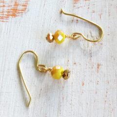 Yellow Sunflower Earrings