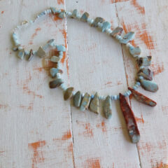 River Walk Aqua Marine and Stone Necklace