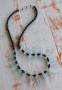 Black and Aqua Dagger Necklace
