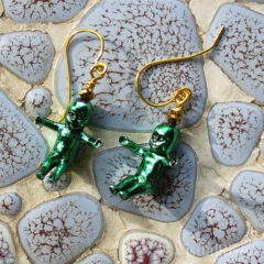 Green King Baby Earrings