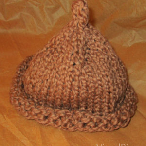 Child's Brown Beanie Organic Cotton Hat