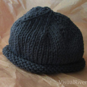 Child's Beanie Knit Hat in Gray