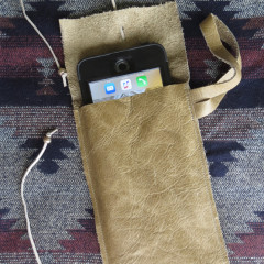 Leather iPhone 6 Plus Wristlet Case Soft Sleeve – Tombstone