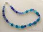 Aqua Pebble Seaglass Necklace