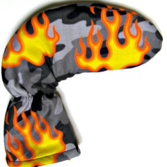 Camo Flaming Golf Putter Cover
