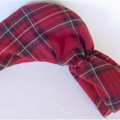 Tartan Plaid Golf Club Putter Cover in Brick Red