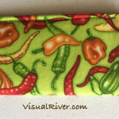 Hot Pepper Eyeglass Case