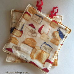 Cheese Print Potholders