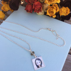 Sonya Portrait Pendant Necklace