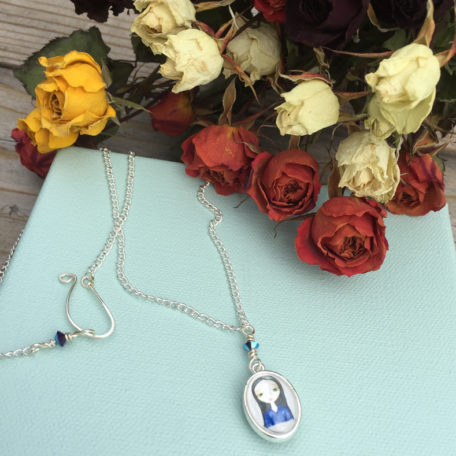 Lilly and Sylvia Portrait Locket Pendant