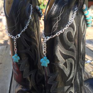 Turquoise Boot Bling