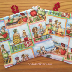 Fruit Lady potholders