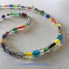 Cane Glass Multi Colored Necklace by VisualRiver