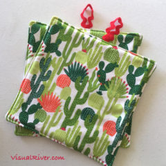 Cactus Print Pot Holders by VisualRiver