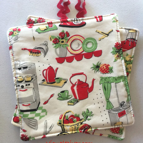 Retro Kitchen Pot Holders