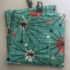 Two ATOMIC Pot Holders ~ 100% Cotton