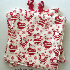 Retro Santa Claus Potholders