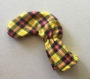 Tartan Plaid Yellow Club Cover